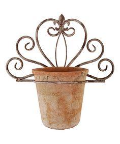 Look what I found on #zulily! Cream Scroll Single-Plant Wall Flowerpot Holder #zulilyfinds