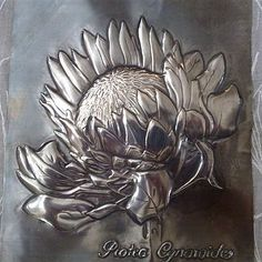 pewter art gallery; pewter embossing cape town ; pewter artwork cape town Aluminum Foil Crafts, Metal Crafts, Aluminum Cans, Tin Foil Art, Tin Art, Pewter Art, Pewter Metal, Metal Embossing, Metal Stamping