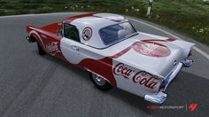 Coca Cola  T-Bird - I would love to do something like this to my PT. The Coke theme. (I would love the fins too!)