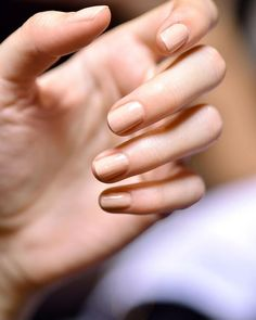 Get Naked! Not only is it very popular right now, but wearing a nude nail color gives a light and pretty finish to your nails and pulls your overall look together when going to castings.  Remember to keep it simple and book that job!