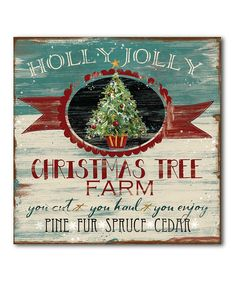 look at this holly jolly christmas tree farm wraped canvas on zulily today - Christmas Tree Farms Colorado