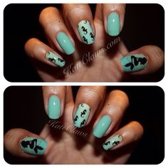 naildecals | Tumblr I am so in love with these nails! Kattclaws is so creative too!