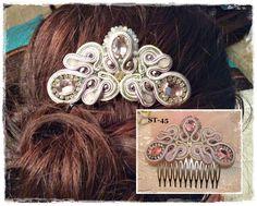 peinetas de soutache - Buscar con Google Maria Jose, Headbands, Jewerly, Feather, Hair Accessories, Embroidery, Google, Earrings, Inspiration