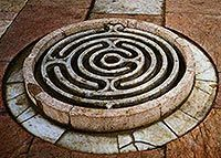 A water labyrinth in the Qasr al-Azm palace in Damascus, Syria. Dates from around 1750. A smaller version would make a beautiful water feature in any garden.