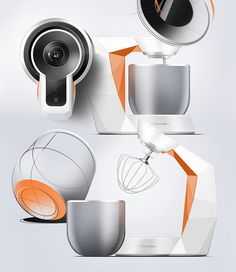 Electrolux Stand Mixer by Peter Braakhuis, via Behance