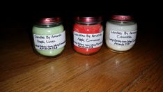 4oz Baby Food Jar Scented Soy Wax Candles by CandlesByAmanda228