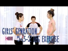 A Look Back at Season One! Sarah and Irene show you how to get the best legs with the actual workout Girls' Generation member Tiffany uses to keep those thin. Kpop Workout, Workout Girls, Slim Legs Workout, Korean Diet, Leg Work, Thigh Exercises, Yoga Videos, Sport, Plein Air
