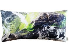 salamander bathing in wild water next to stones. cushion. organic and fair. ALTAI. 40x80 cm. sketched and photographed by von ERIKA.