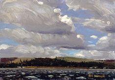 Tom Thomson - White Caps, Smoke Lake, 1913, oil on canvas on masonite, Winnipeg Art Gallery