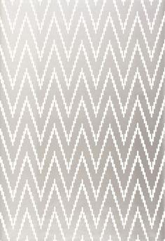 Wallcovering / Wallpaper   Kasari Ikat in Silver   Schumacher