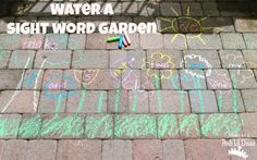 Mom to 2 Posh Lil Divas: Play to Learn: Water a Sight Word Garden