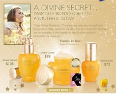 Yasmin Le Bon uses L'Occitane's Divine Cream. I might have to try it.