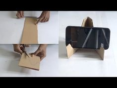 Diy - making of mobile stand in 5 minutes using waste material in this video i show you that how to make a mobile stand in few minutes with waste materiel, Diy Phone Stand, Desk Phone Holder, Iphone Holder, Smartphone Holder, Iphone S6 Plus, Iphone Phone, Mobile Stand, Mobile Holder, Ipad Holder
