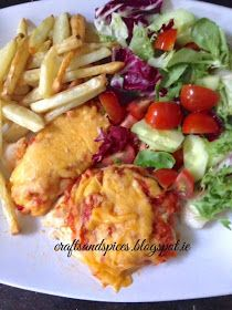 crafts and spices: Pizza Topped Chicken