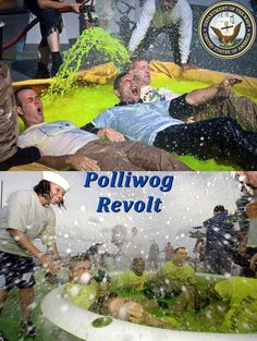 The polliwog revolt of the previous night was a testament to their poor judgment. He knew this much now. Soaking wet, slimy with seawater, dirt and uncertainty, Jack could barely hold himself up on his knees grating against the cold, wet non-skid underneath. Struggling to keep his eyes open, he caught a hazy glimpse of the horizon and the imposing silhouettes looming gigantic before his eyes. His tired lungs filled with air -- drags of salty, chill mist that stung with each inhale..
