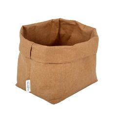 Essent'ial - wasbare papieren zak - naturel - medium