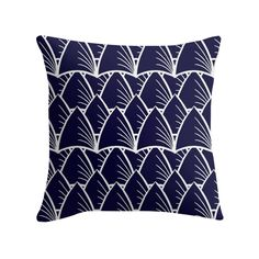 """""""Shards Navy"""" Cushion http://www.redbubble.com/people/angeflange/works/14722660-shards-navy?p=throw-pillow"""