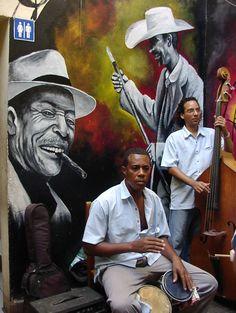 Musicos en La Habana