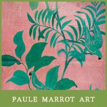 Paule Marrot Pink Birds by Natural Curiosities - beautiful art print Art Encadrée, Estilo Tropical, Art Deco Movement, Photo Images, Natural Curiosities, Guache, Pink Bird, Motif Floral, Art Graphique