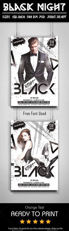 Reboot Party Flyer Template Flyer template, Party flyer and Template - black and white flyer template