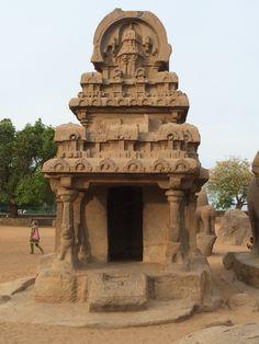 Nakula Sahadeva Ratha, one of the Five Rathas of Mamallapuram, located on the Coromandel Coast of the Bay of Bengal in Mahabalipuram (மாமல்லபுரம்), Tamil Nadu. #india #southasia #travel #history #architecture #hindu #culture #coromandel #unesco
