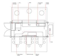 porchetta shipping container kiosk by noiseux + sasseville - designboom | architecture & design magazine