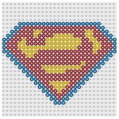 Plantilla Hama Superman (Superheroes) www.tuburbuja.es