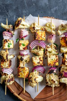 Afghan Cauliflower and Tofu Tikka Kebab Skewers • The Curious Chickpea