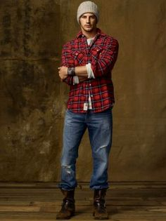 flannel men outfit - Google Search