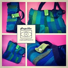 Scomposte: borse a tracolla ricoperte di lana e di ProgettoPupilla