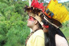 Apresentação na aldeia Itapu Mirim, em Registro. Circulação ProAC do Governo do Estado de São Paulo, Secretaria da Cultura, dia 09 de fevereiro na cidade de Registro.
