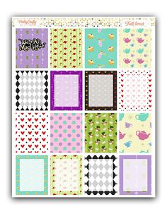 You will receive a (approx.) 7 x 9 sticker sheet to use in your Erin Condren Vertical planner which includes 16 full boxes! Check out our