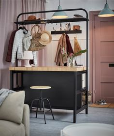 Cuisine Ikea : A welcome organiser The island can serve as a clever room divider in an open-pla. A welcome organiser The island can serve as a clever Ikea Kitchen, Kitchen Island, Deco Studio, Best Home Interior Design, Ikea Home, Casa Real, Kitchen Layout, Design Kitchen, Home Kitchens