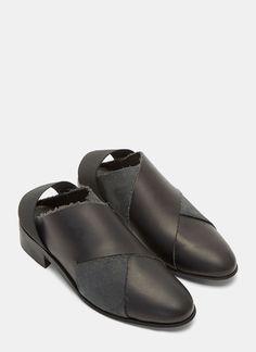 Petrucha Daryl Slingback Leather Shoes | LN-CC
