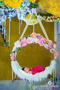 "Naming Ceremony Decoration or Cradle Ceremony Decoration planners, organizers, and decorators in Pune. Naming Ceremony is also known as ""Cradle"" and in Marathi ""Barse"" or ""Namkaran Sohala"".Sukanya Events have tremendous naming ceremony decorations. Festival Decorations, Ceremony Decorations, Baby Shower Decorations, Flower Decorations, Birthday Decorations, Naming Ceremony Decoration, Marriage Decoration, Naming Ceremony Invitation, Flower Invitation"