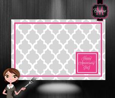 50 Personalized Paper Placemats, Custom Monogrammed, Choose Your Colors. Great Party Decoration on Etsy, $35.99