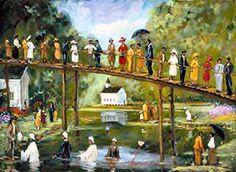T. Ellis Fine Arts - - T. Ellis Painting of African American spiritual art, southern baptism, 22x28, $225.00, www.tellisfineart.com