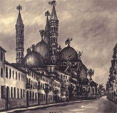 Le cupole del Santo by Tono Zancanaro