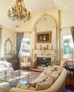 I love this Victorian inspired sitting room in El Dorado Hills
