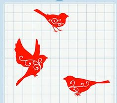 MTCSCAL e-files: swirlybirdstrio...a springtime accent to your craft project
