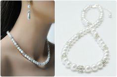 Bridal Jewelry Pearl Bridal Necklace Handmade by Amanda Badgley Designs