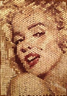 "Saatchi Online Artist: Conrad Engelhardt; Other, 2012, Mixed Media (wine corks) -""Marilyn Monroe"""