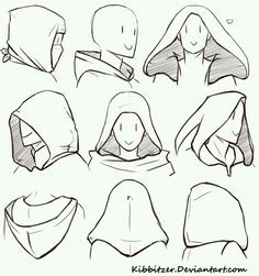 Manga Drawing Tips How to Draw a Hood; How to Draw Manga/Anime Drawing Reference Poses, Drawing Poses, Drawing Tips, Drawing Ideas, Drawing Drawing, Figure Drawing, Hair Reference, Anime Drawing Tutorials, Drawing Themes
