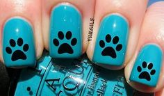 YRNails Nail Art Water Transfers Decals - Simple Dog Paw Print -  #spon #followitfindit