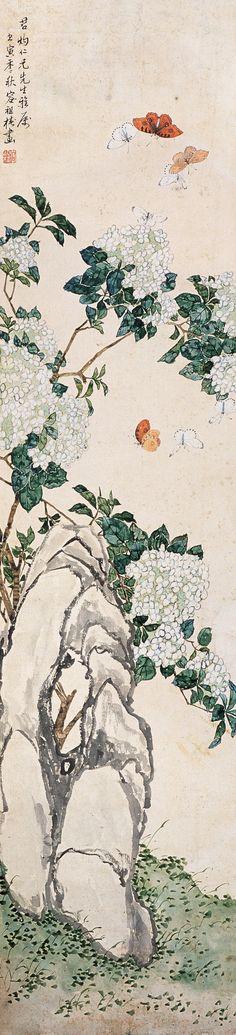 容祖椿花鸟作品欣赏