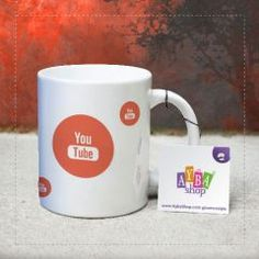 Youtube Logolu Seramik Kupa Baskı Mugs, Youtube, Tableware, Shopping, Facebook, Google, Food, Dinnerware, Tumblers