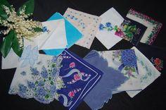 Vintage Hankies Blue Bouquet .....twelve by CheekyVintageCloset, $34.50
