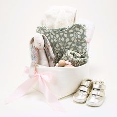 Rylee and Cru Baby Girl Gift Basket - Pink Rose – Bonjour Baby Baskets - Luxury Baby Gifts