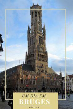 Roteiro de 1 dia pela encantadora Bruges, uma cidade da Bélgica. Cheia de canais, é uma linda cidade para fazer um passeio bate-volta partindo de Bruxelas, ou para passar alguns dias desfrutando a cidade e as deliciosas cervejas belgas.