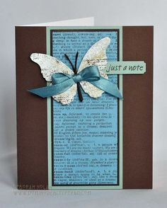 Memory Box Butterfly Note